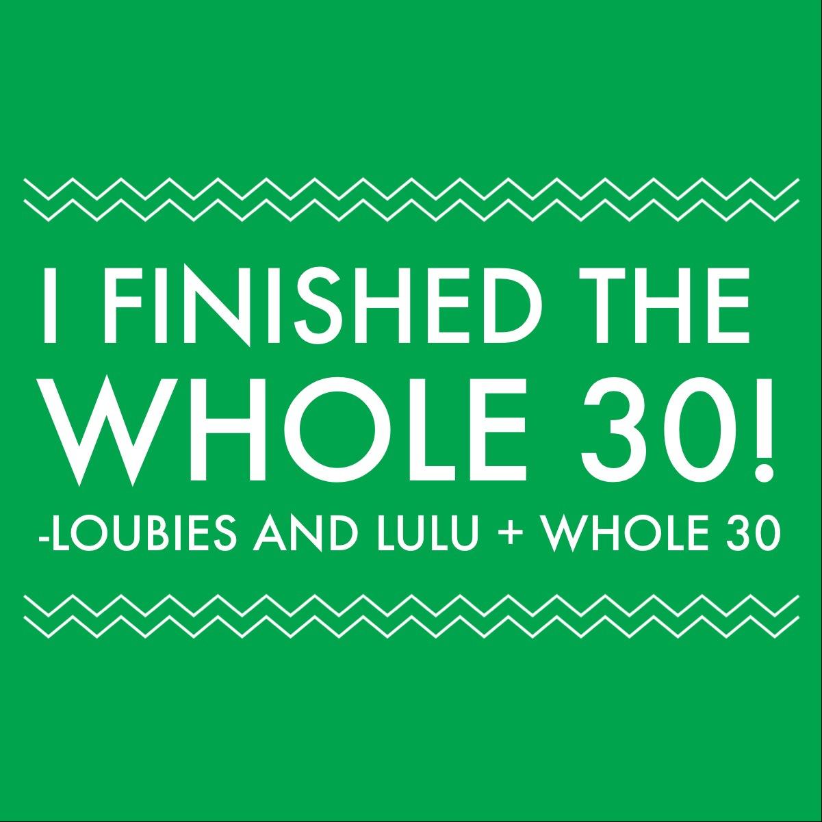 WHOLE 30 RECAP