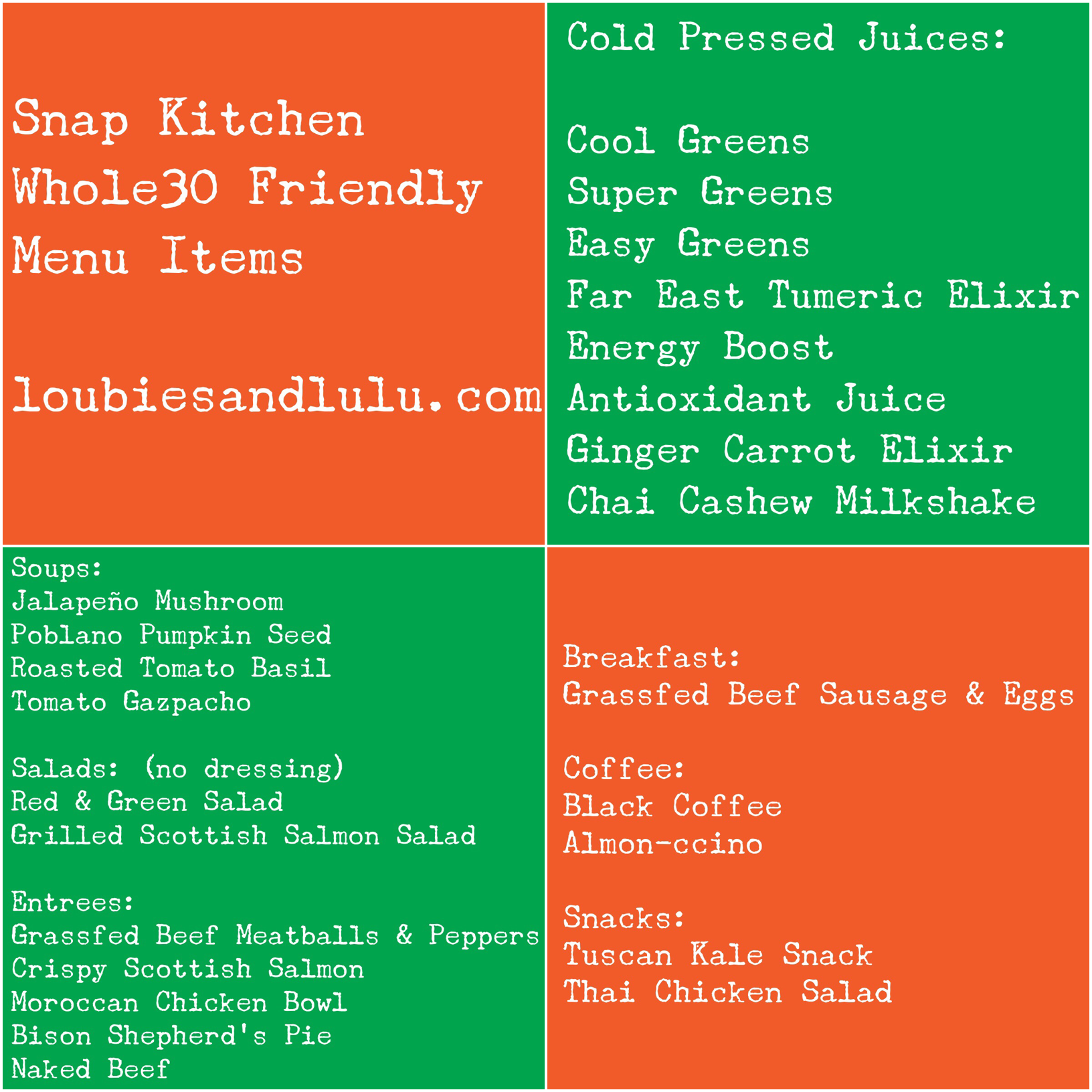 Ordinaire Snap Kitchen Whole30 Friendly Items