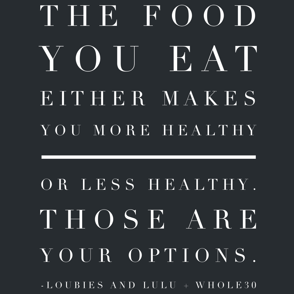 Whole30 It Starts With Food Quote