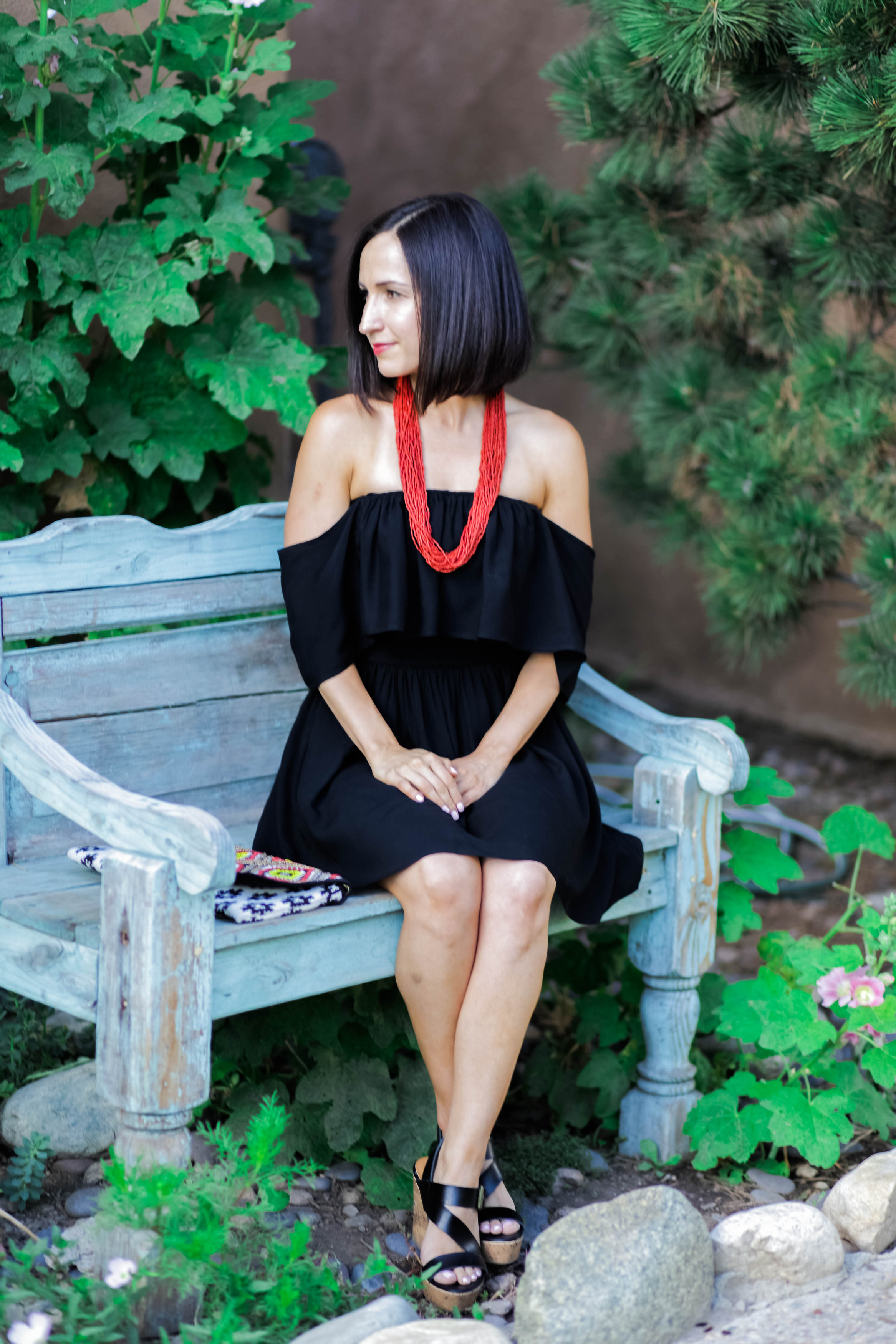 Off Shoulder Little Black Dress Loubies And Lulu