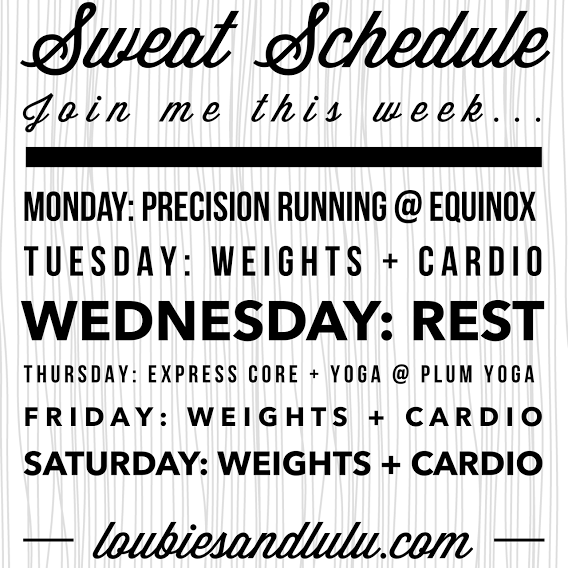Sweat Schedule | Equinox | Plum Yoga