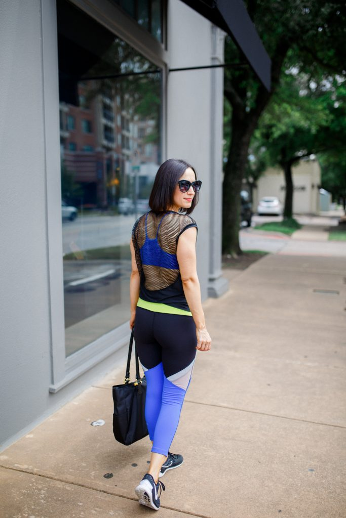 Colorblock Leggings And Mesh Back Tank Style Squared