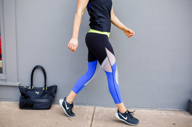 Colorblock Leggings and Mesh Back Tank | Style Squared Clothing