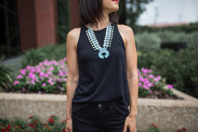Nordstrom Giveaway | Black and Turquoise Outfit