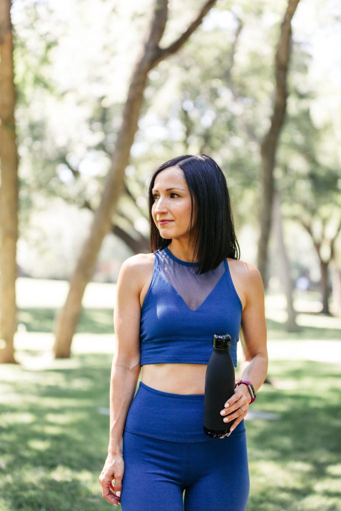 Try this arm workout the next time you're exercising at home or at the gym! And, this cropped top and high rise leggings from Beyond Yoga are great for any of your summer workouts...