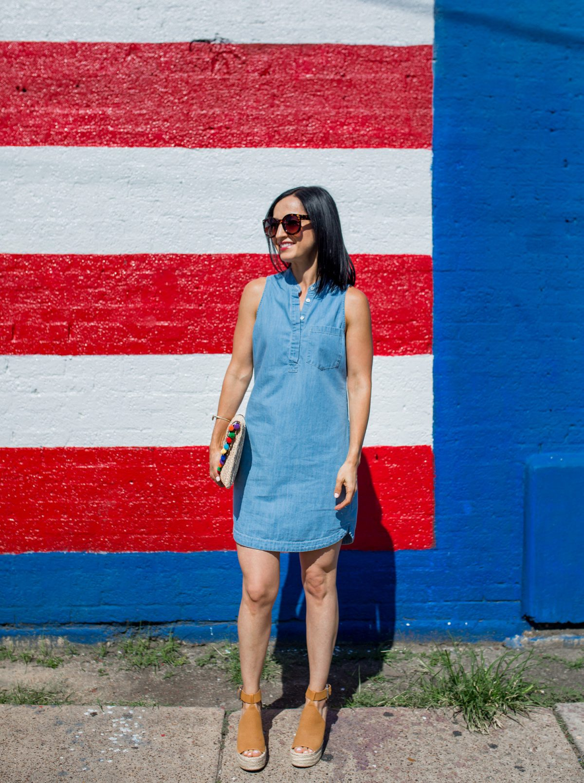 Chambray Dress + 4th of July Sales