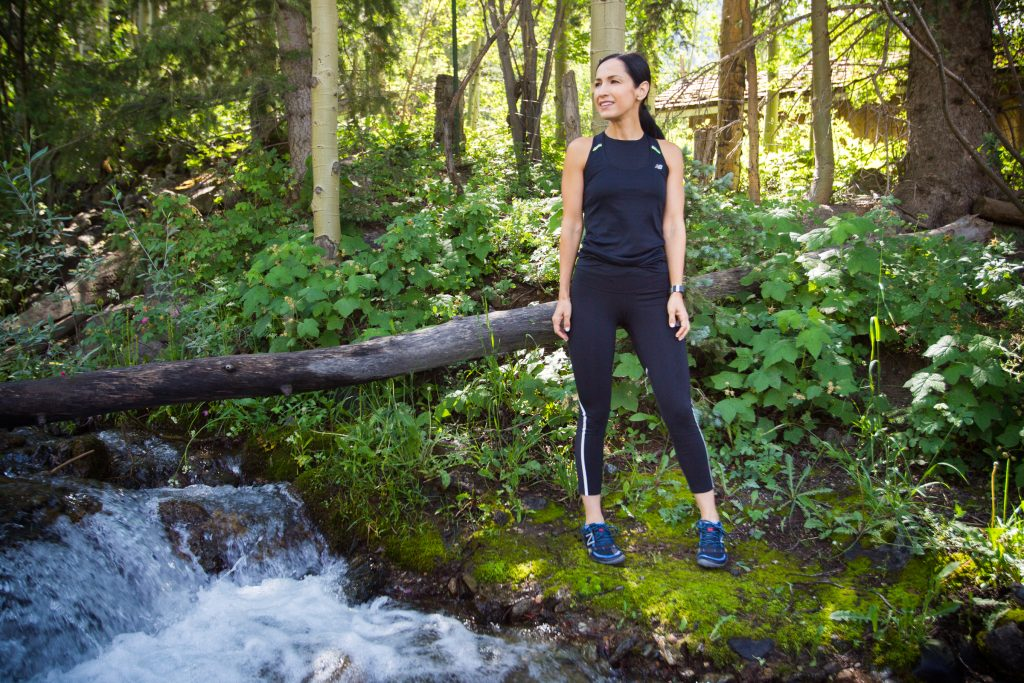 New Balance Running Activewear and running sneakers are perfect for training for a trail race at Taos Ski Valley!