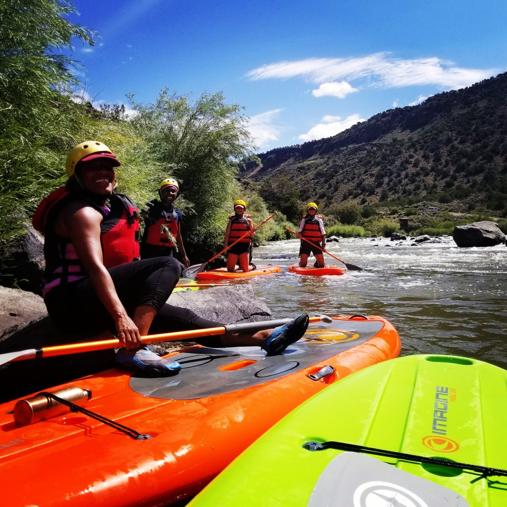 SUP Stand Up Paddle Boarding on the Rio Grande with New Mexico River Adventures