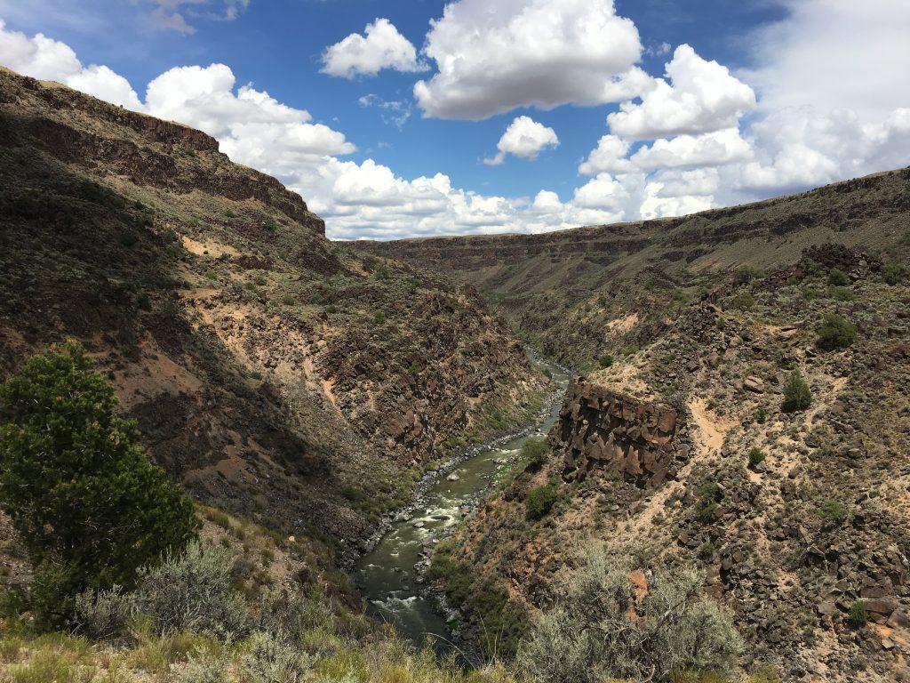 Taos New Mexico Hiking on the La Vista Verde Trail in Rio Grande Del Norte National Monument, Taos Box View