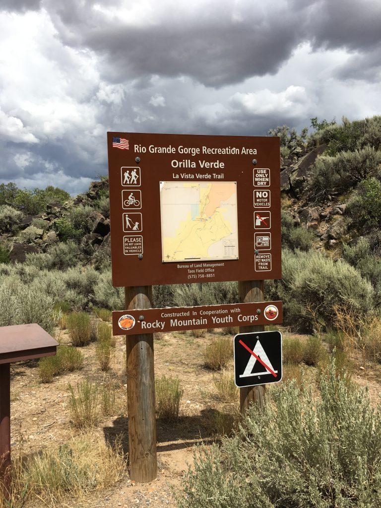 La Vista Verde Trail in the Rio Grande Del Norte National Monument, Taos New Mexico