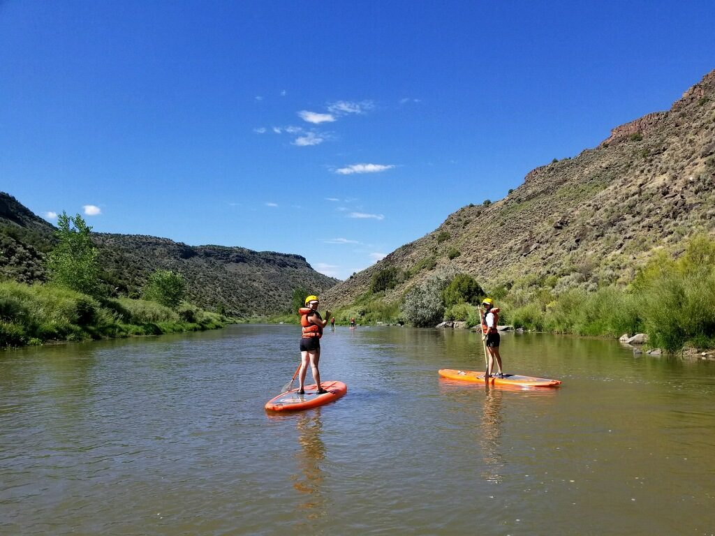 Stand Up Paddle Boarding in Taos along the Rio Grande with New Mexico River Adventures and Heritage Inspirations