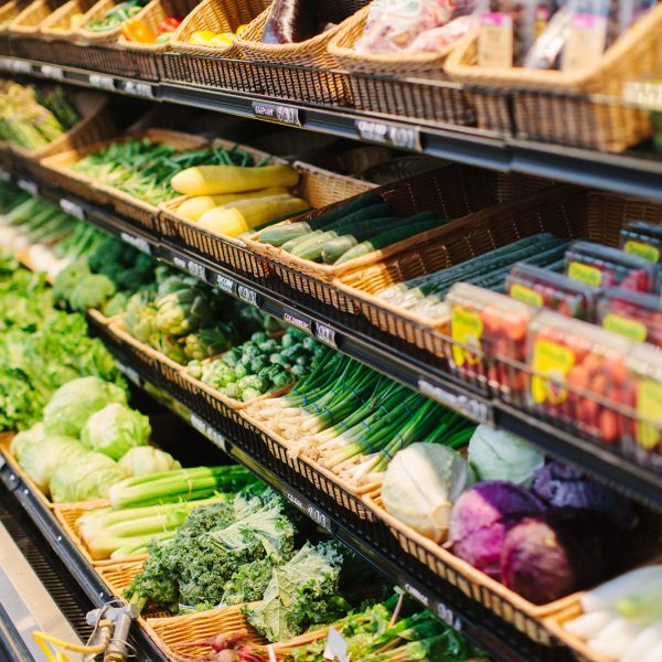Produce shopping for Whole30