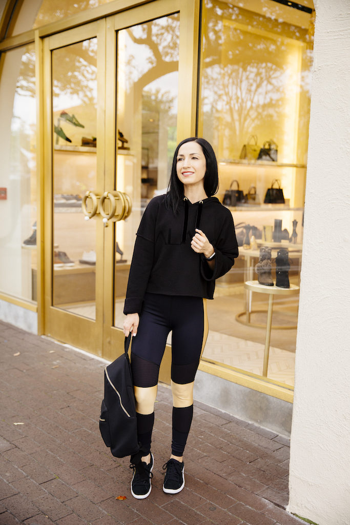 Cyber Monday Sales and Codes, featuring black and gold activewear from Alala!