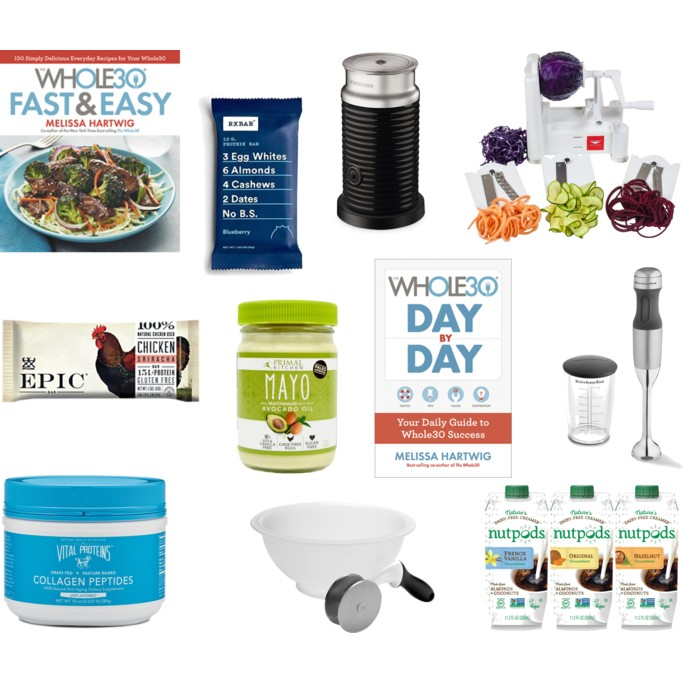 A collection of items for someone doing the Whole30 / healthy lifestyle!