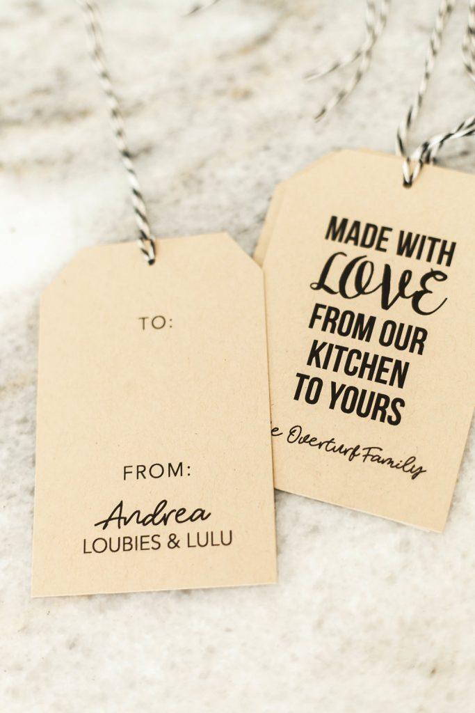 Joy Creative Shop Gift Tags for Food Gifting