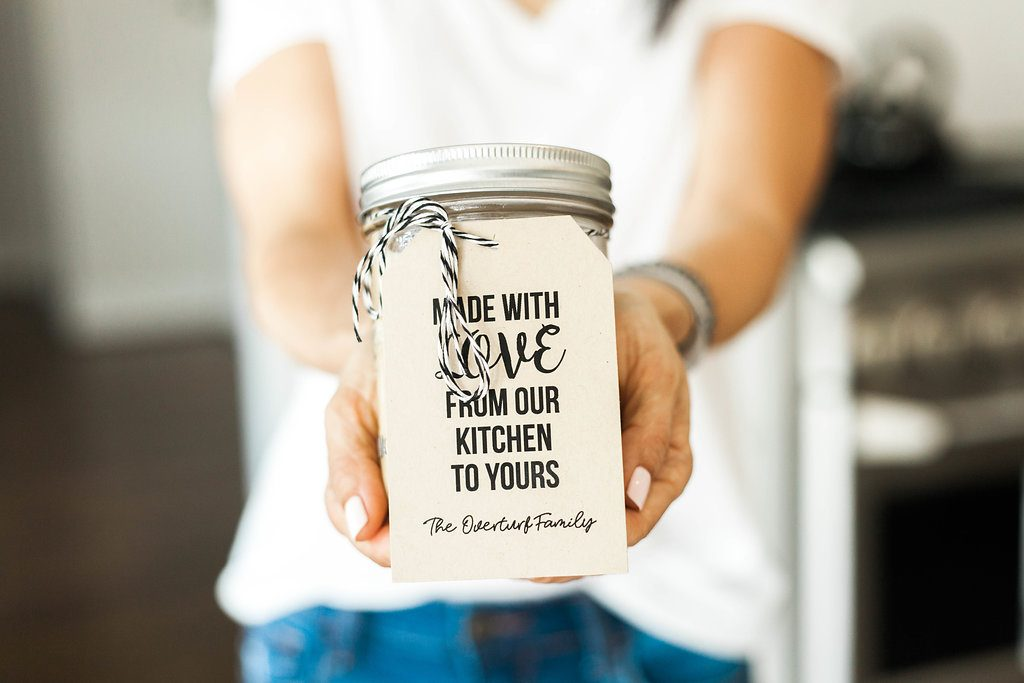 Whole30 Ranch Dressing with gift tags from Joy Creative Shop make a thoughtful hostess gift!