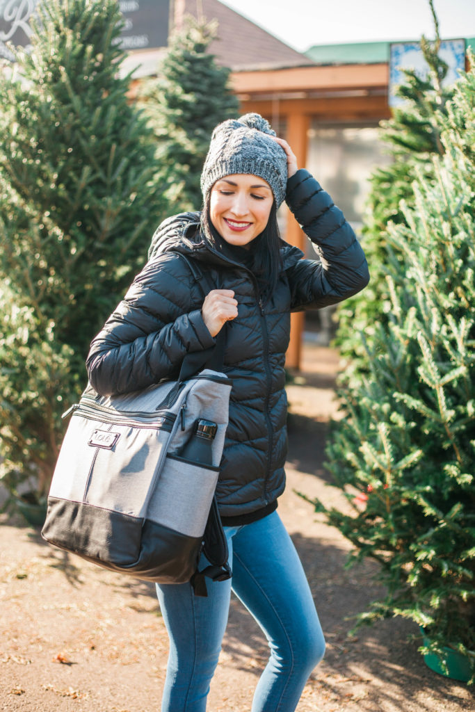 Lole Yoga Jeans and Sweater | Gift Ideas for Women | Sorel Winter Wedge Boots | Packable Jacket