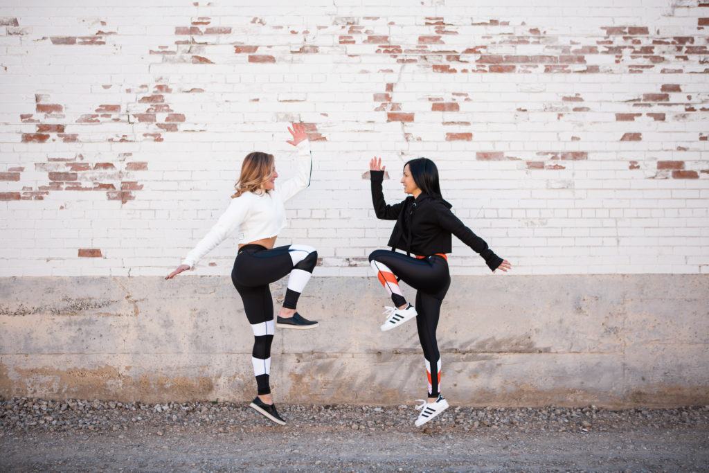 P.E. Nation Leggings and Wesley Cropped Hoodie Sweatshirt Whole30 Dallas Duo Bandier Alala