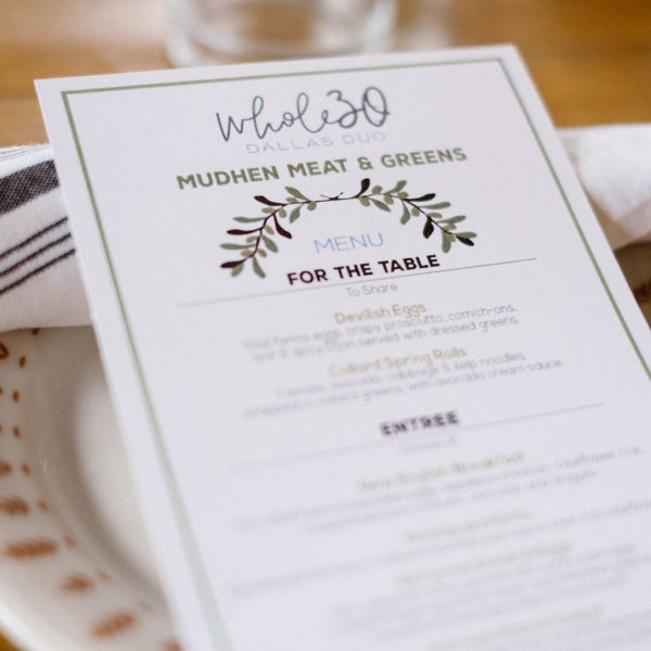 Whole30 Dallas Duo Brunch at Mudhen