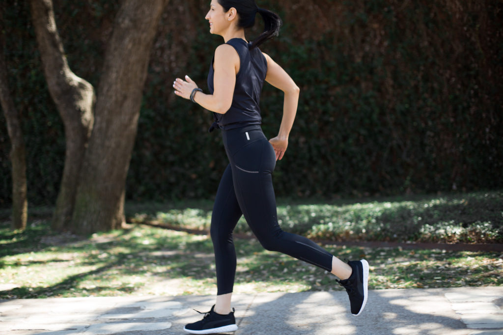 Zella Spring Activewear, Running leggings and long sleeve top from Nordstrom