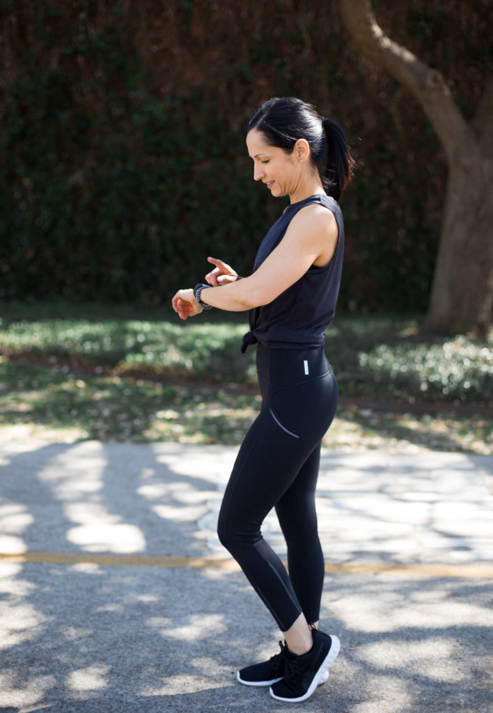 Zella Spring Activewear, Running leggings and long sleeve top from Nordstrom, Fitbit Alta HR