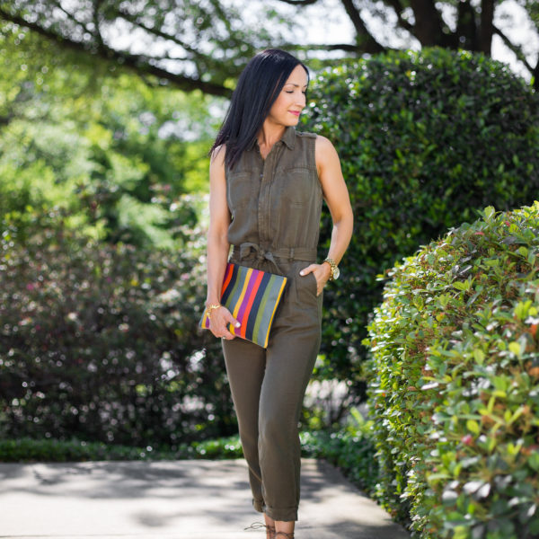 Olive Green Utility Jumpsuit