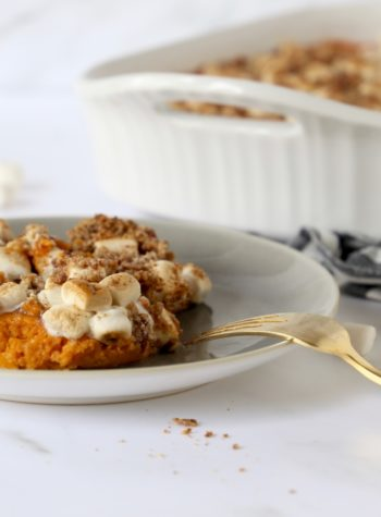Gluten Free Dairy Free Sweet Potato Casserole for holiday and Thanksgiving