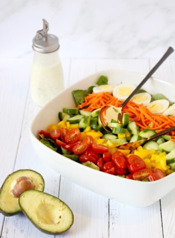 Green Salad with Whole30 Ranch dressing