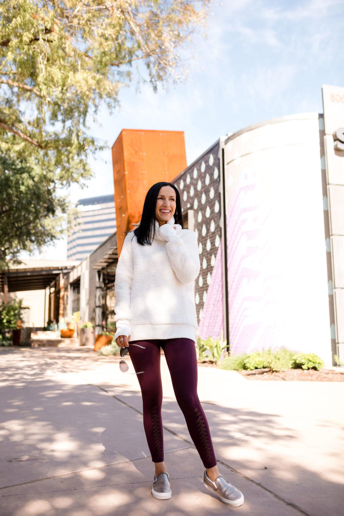 Athleta Sherpa Pullover Sweatshirt Gift Idea for women