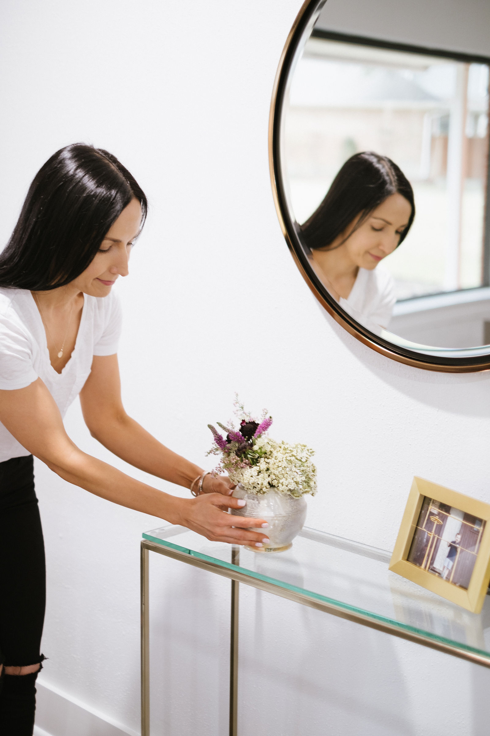 Holly and Martin Wais Mirror, how to style a small entry way space