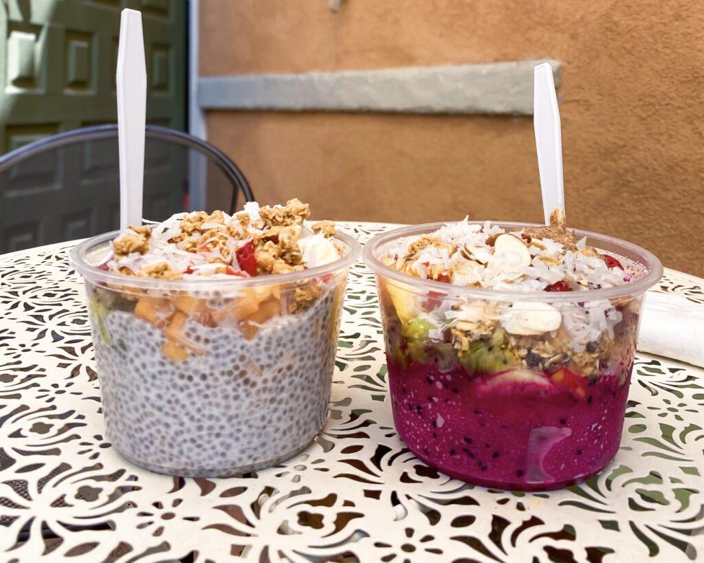 Vida Juice Bar Chia and Acai Bowls