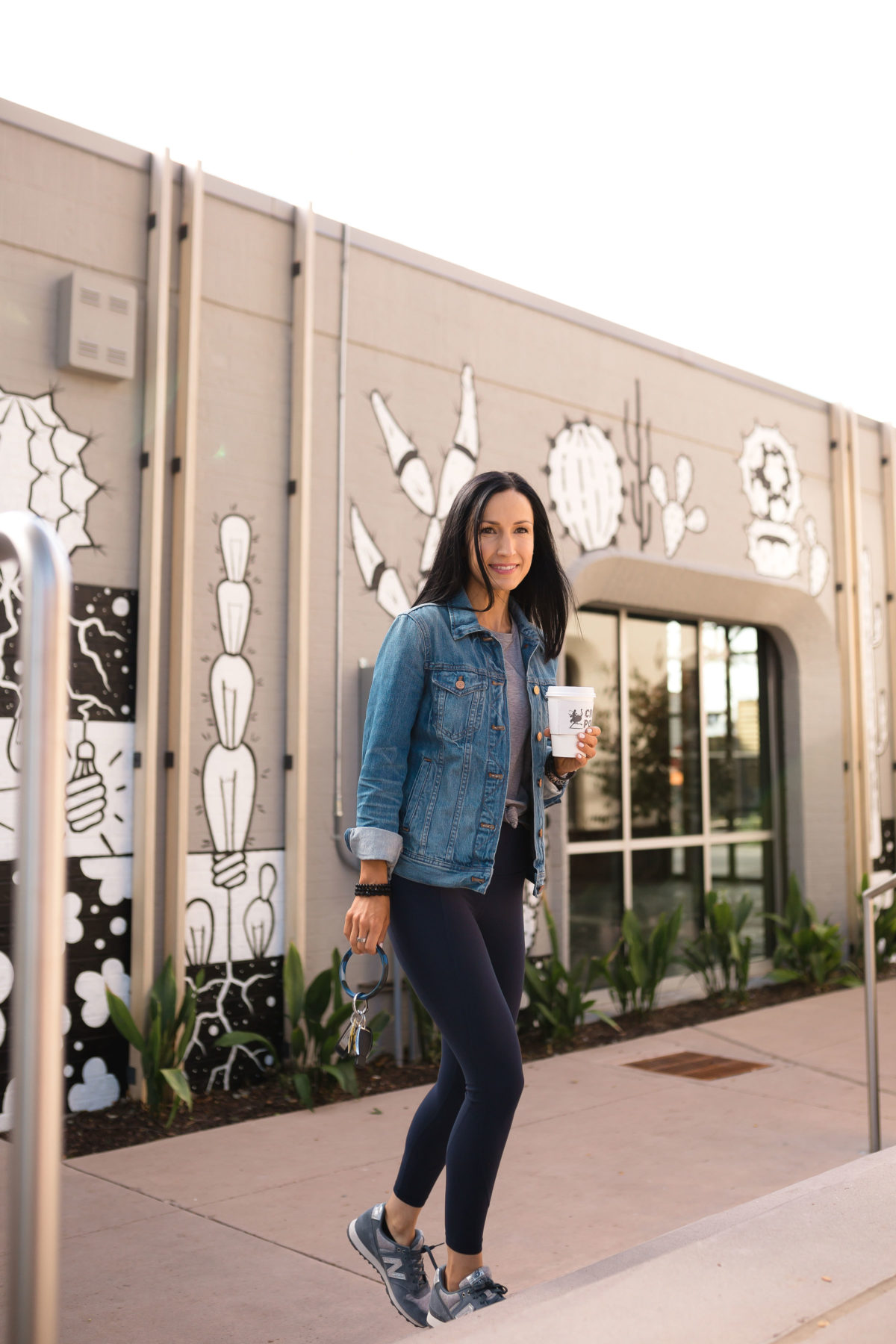 Spring Athleisure with Athleta , Denim Jacket with leggings