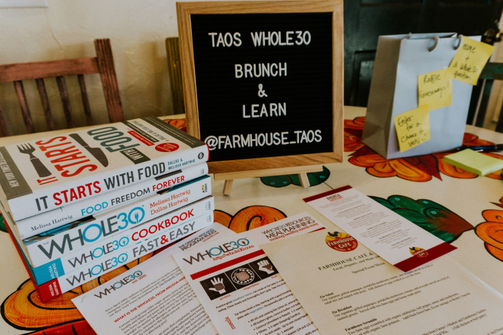 Taos Whole30 Workshop at Farmhouse Cafe