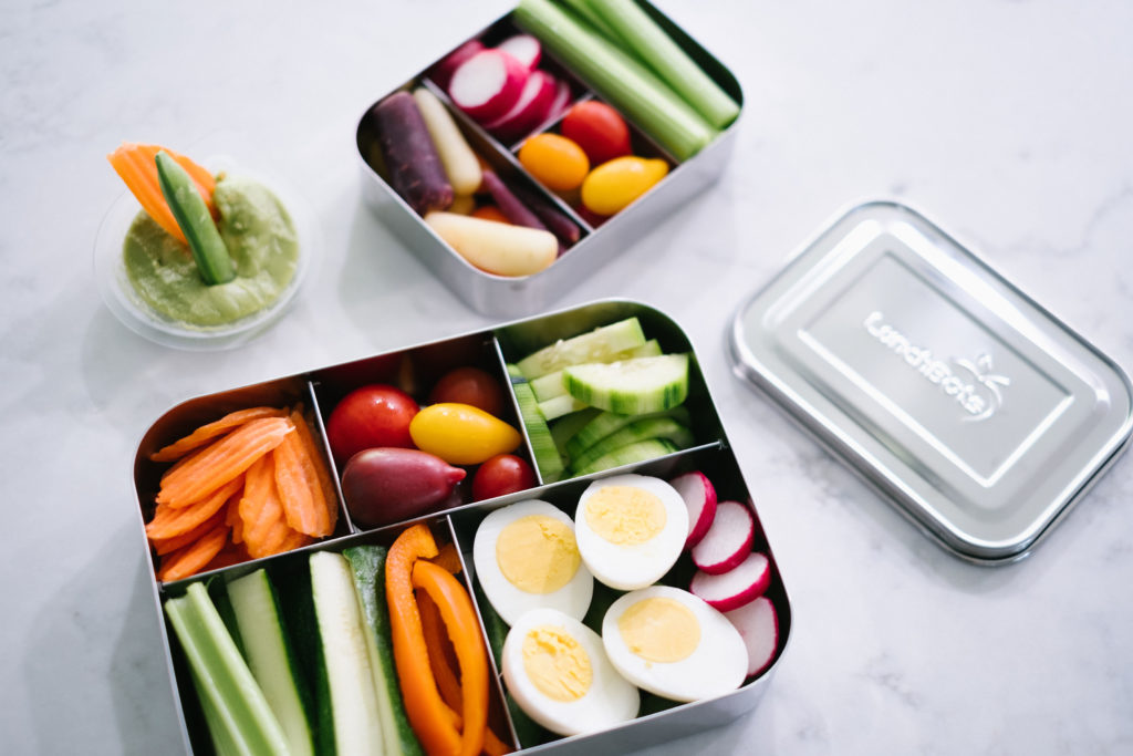 Whole30 snacks and meals for travel and summer in lunchbots containers