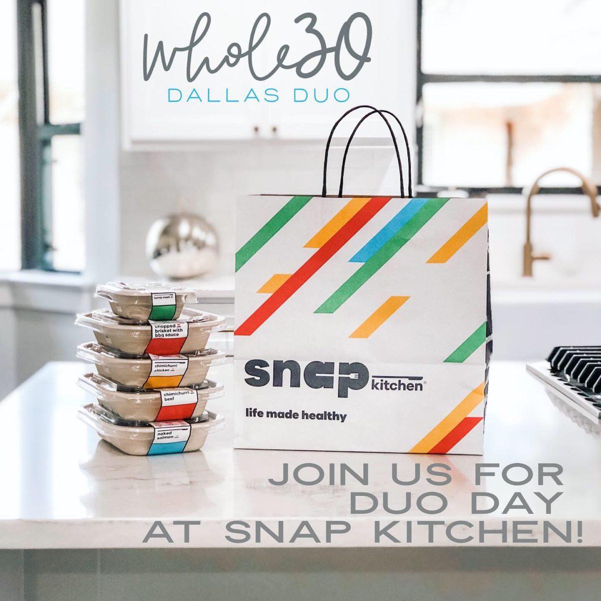 Snap Kitchen Whole30 Dallas Duo Event