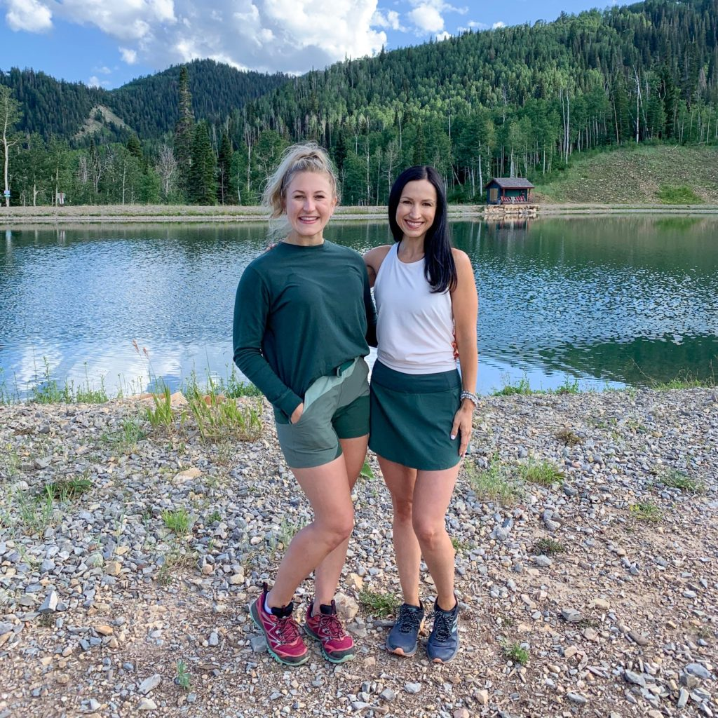 Dallas Duo Whole30 Coach Summit in Park City, Utah wearing Outdoor Voices