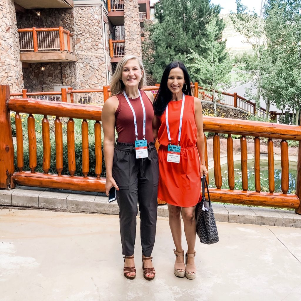 Dallas Duo Whole30 Coach Summit in Park City, Utah wearing Athleta