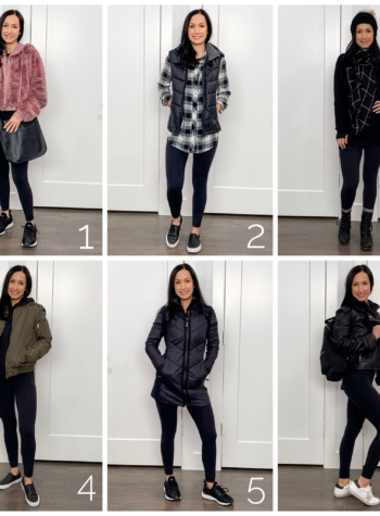 Black lululemon align leggings styled six ways for winter