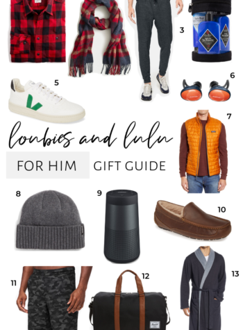 Gifts For Him Gift Guide 2019, Ugg, Outdoor Voices, Lululemon, Patagonia, and more!