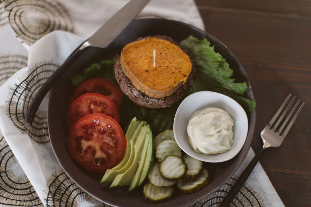 Hatch Green Chile Avocado Burgers (Whole30)