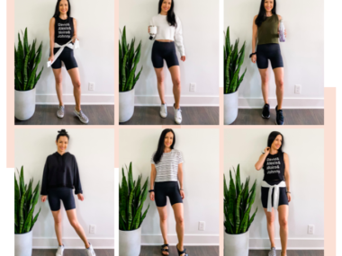 how to style bike shorts