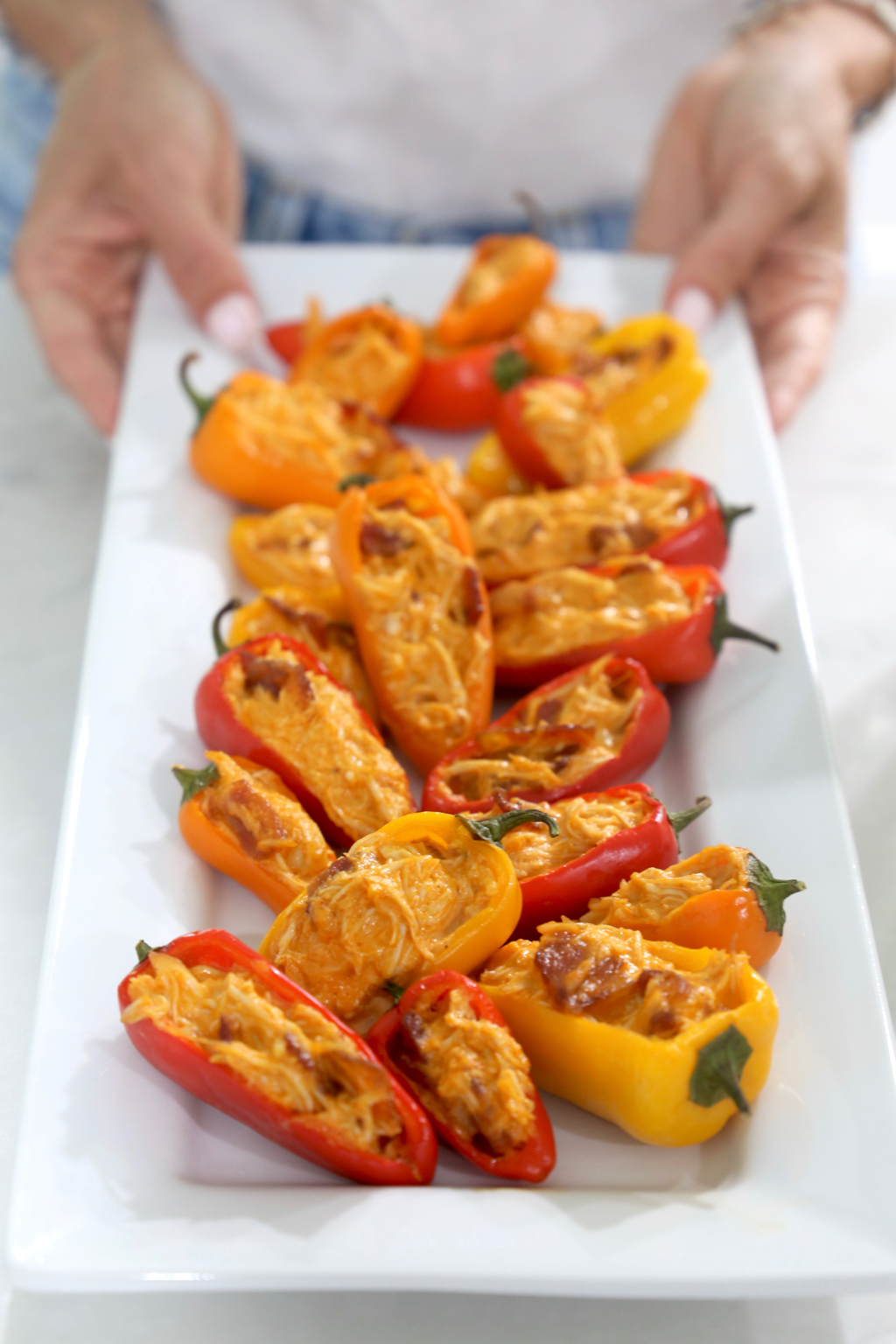 Buffalo Chicken Pepper Poppers Whole30