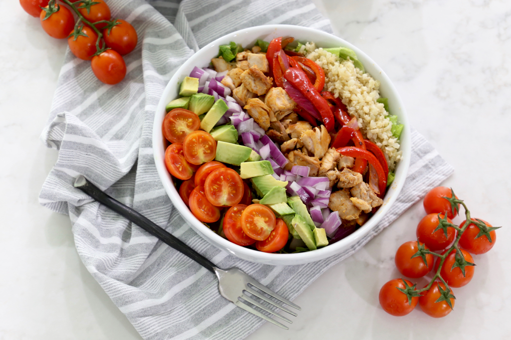 Whole30 Easy Chicken Taco Salad