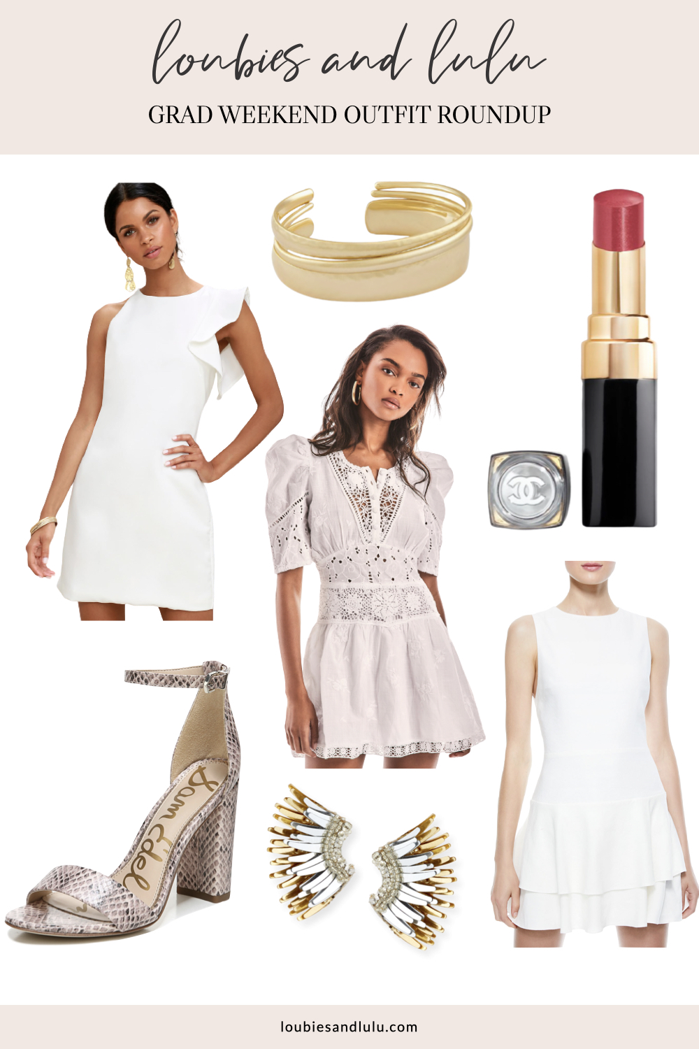 Graduation Day Outfits for moms and daughters, white dresses